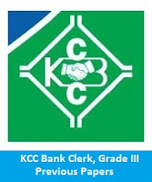 KCC Bank Clerk, Grade III Previous Papers