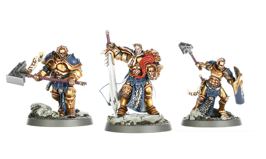 Picture of the official, unconverted warband from Games Workshop, shown here as a comparison with the converted miniatures.