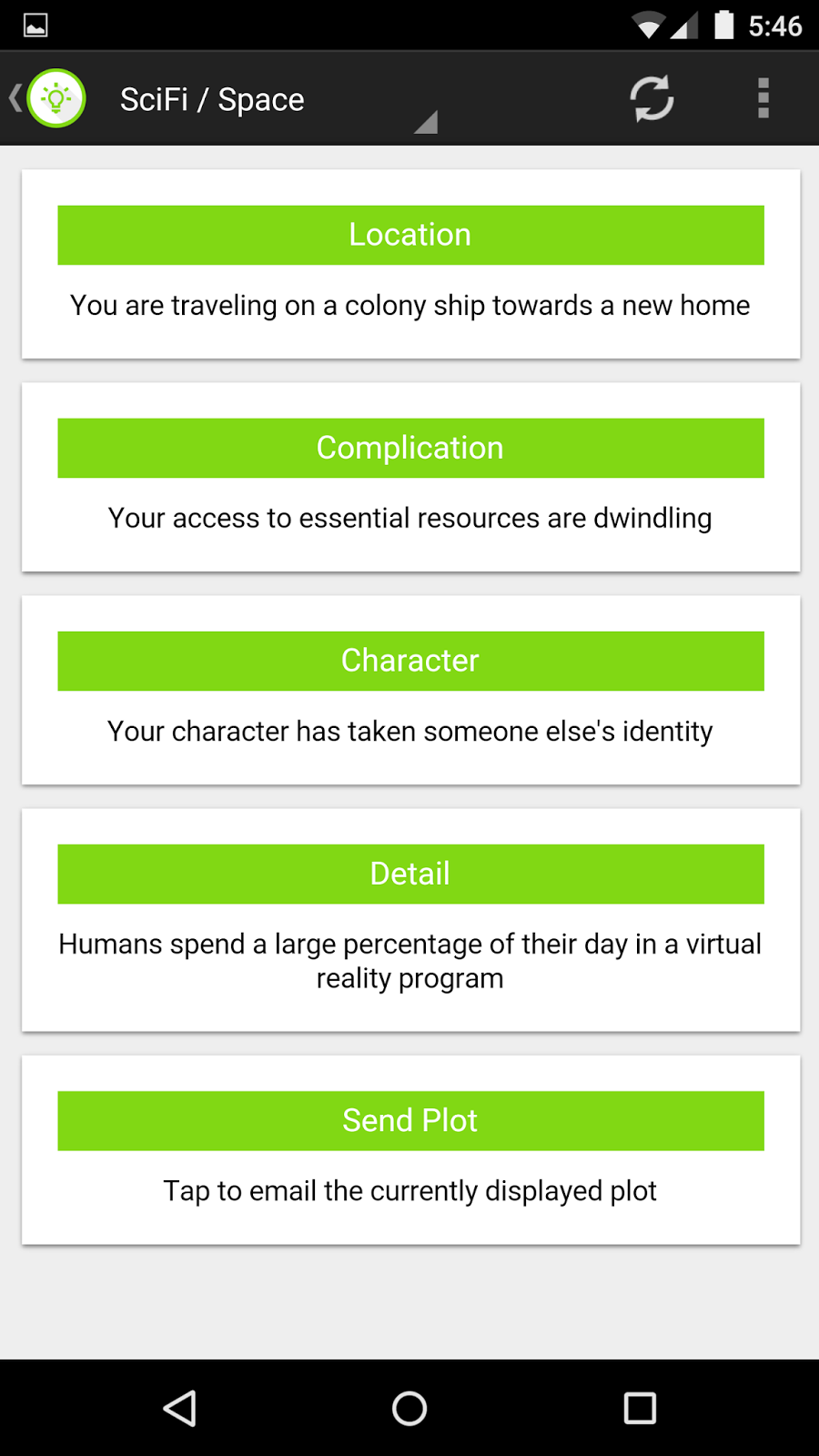 How To Write Fiction: Review: Story Plot Generator by ARC Apps