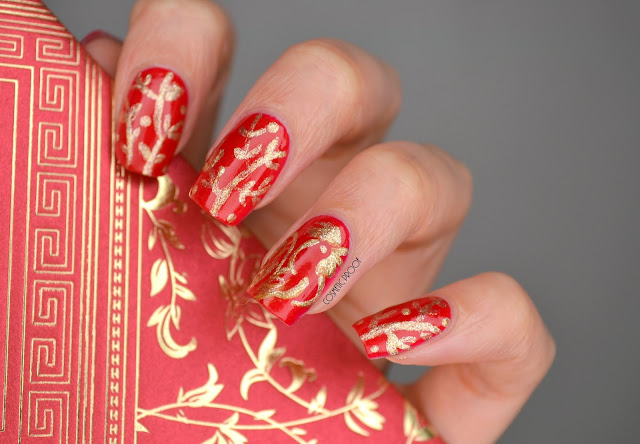 NAILS | Year of the Rooster Lunar New Year Nails