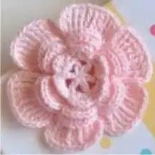 Flor Rosa a Crochet