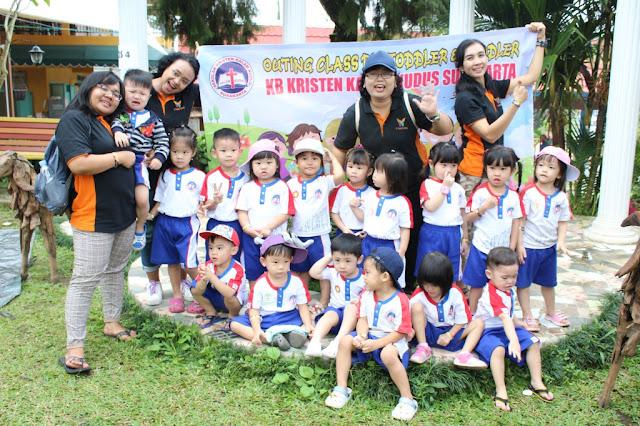 KB Kristen Kalam Kudus Surakarta Ajak Siswanya Outing Class di Balekambang