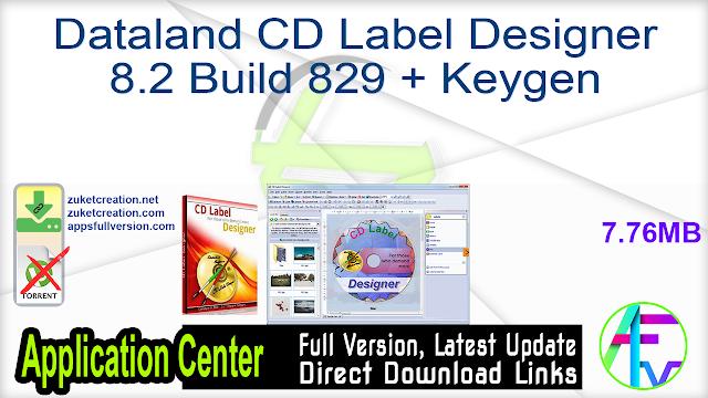 Dataland CD Label Designer 8.2 Build 829 + Keygen