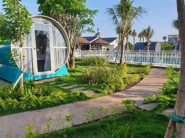 khu vực trải nghiệm không gian sống tại khu nghỉ dưỡng happy garden Hồ Tràm . thuộc quyền quản lý của cty thiên hải group