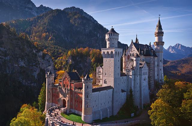 Castelo de conto de fadas na Baviera