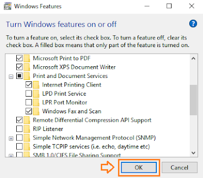 How To Turn ON or OFF Windows Features In Windows 10