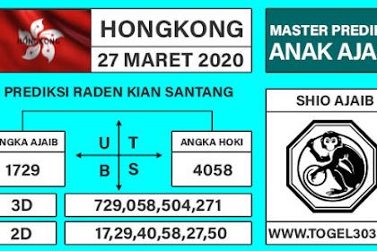 Angka Main Jitu Togel Hongkong Jumat 27 Maret 2020