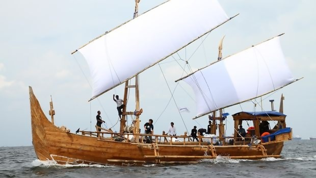 "Kapal Ekspedisi ""Spirit of Majapahit"" Tiba di Kagoshima Jepang"