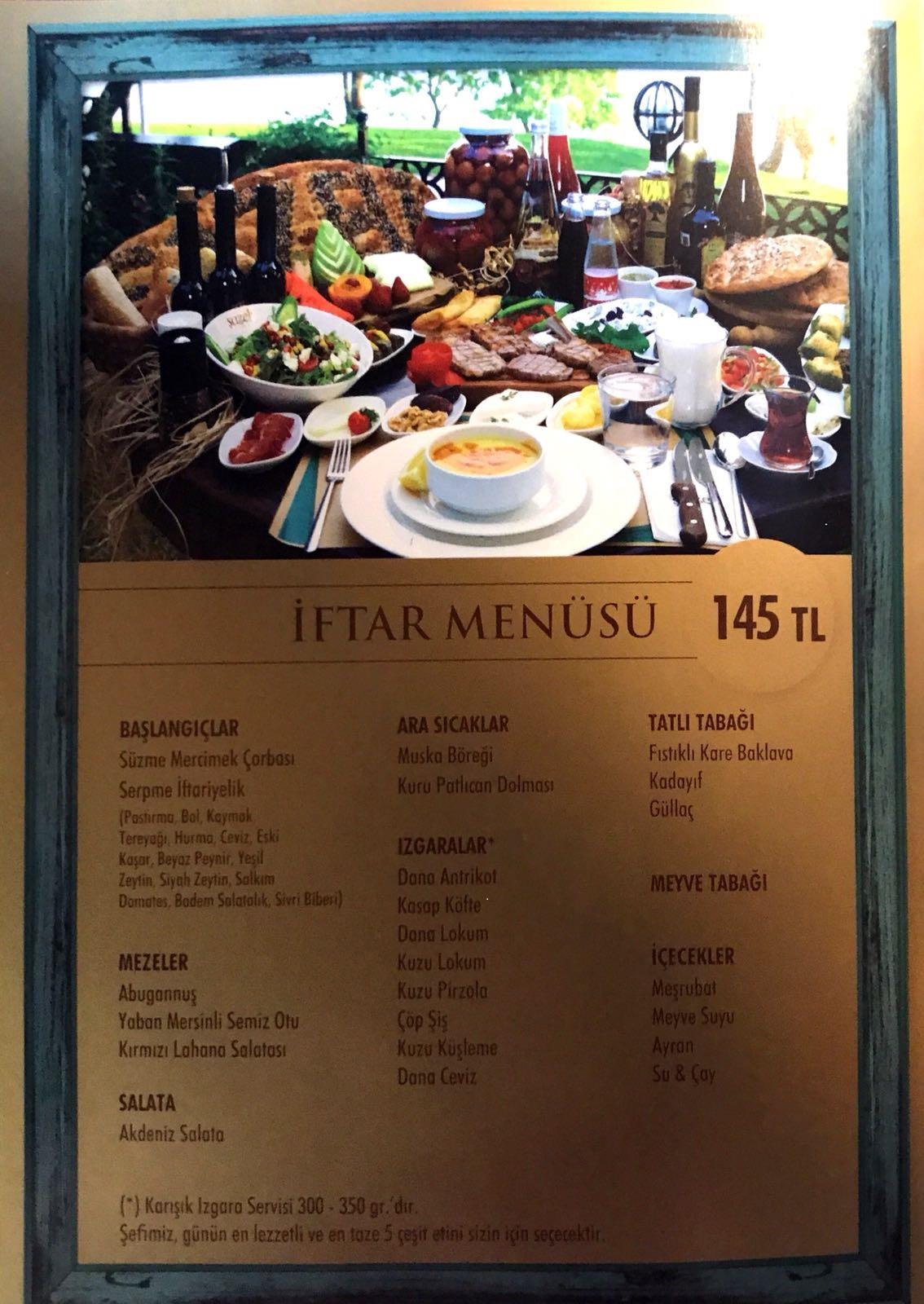 sazeli Cafe Restoran florya istanbul menu fiyat