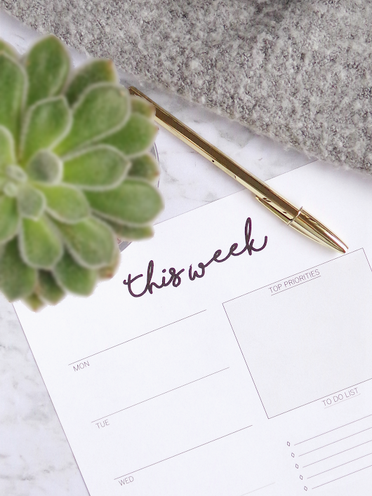 How To Plan Your Week: 7 Simple Steps + Free Weekly Planner