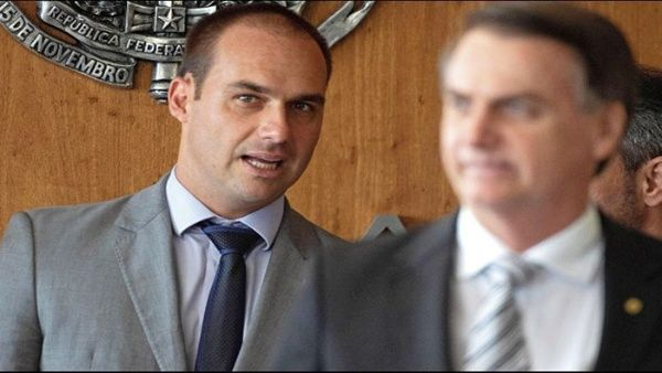 Impugnan nombramiento del hijo de Bolsonaro como embajador
