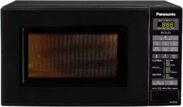 Panasonic 20 L Solo Microwave Oven (NN-ST266BFDG, Black) - best microwave oven