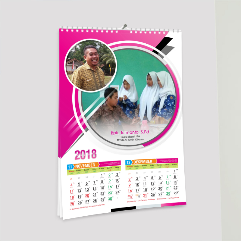 Download Desain Kalender 2018 (Masehi-Jawa-Hijriyah ...