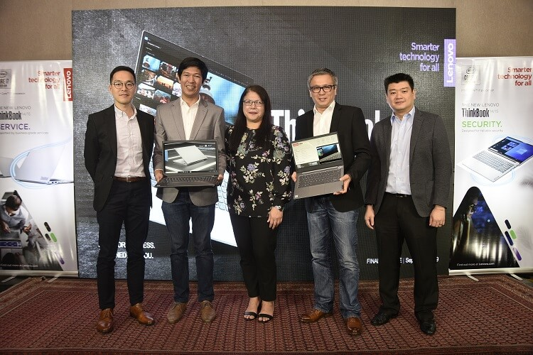 Lenovo ThinkBook 14 and ThinkBook 15 showcased by the company's executives