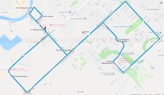 Chatham G (G2 exit) Test Route 2 Map Via Google Maps