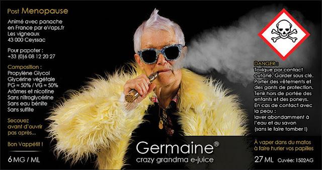 Germaine e-liquide vapotage Post Ménopause