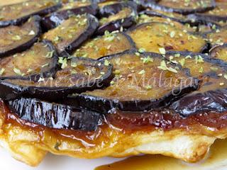 receta tarta tatin berenjenas y queso Málaga