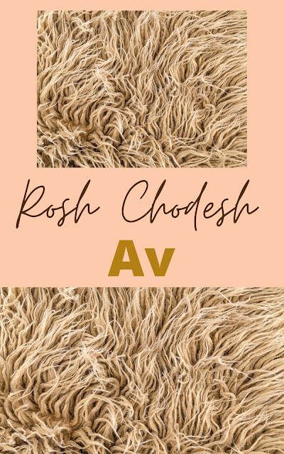 Happy Rosh Chodesh Av Greeting Card | 10 Free Modern Cards | Happy New Month | Fifth Jewish Month