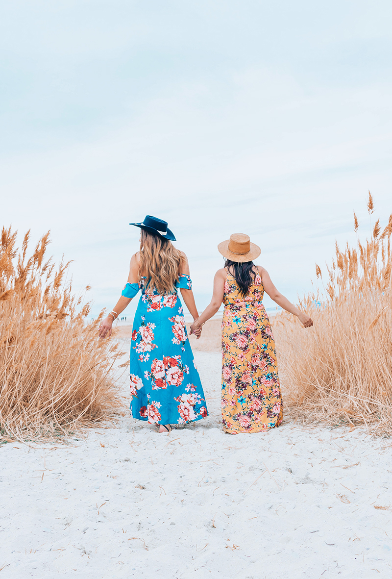 women on the beach, summer dresses, spring dresses