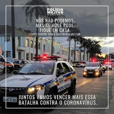 MG: Polícia Militar vai orientar população sobre importância de medidas preventivas contra o coronavírus
