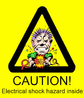 Electric price shock hazard warning