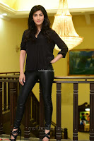 Shruti Haasan Looks Stunning trendy cool in Black relaxed Shirt and Tight Leather Pants ~ .com Exclusive Pics 003.jpg