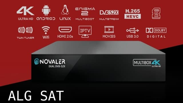 NOVALER- Multibox 4K Ultra HD - الرسيفر