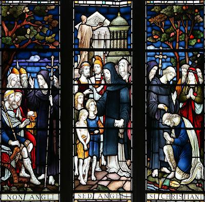 Imagem de Santo Agostinho de Cantuária, vitral, #1