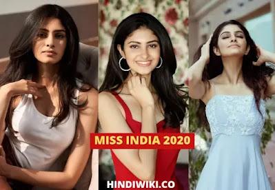 Manasa Varanasi (miss india 2020) wiki, biography, age, height, family and many more in Hindi
