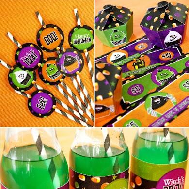 Little Monsters Halloween Cupcake Shop & Printables