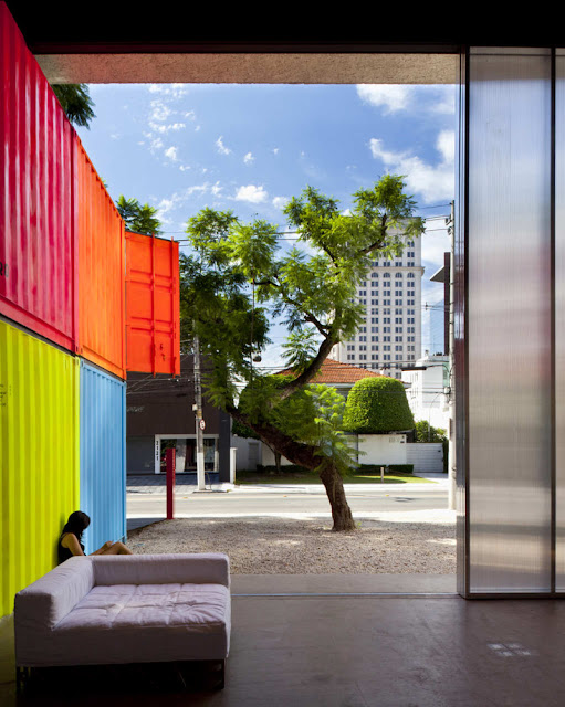 Decameron - Low Budget Colorful Shipping Container Store, Brazil 20