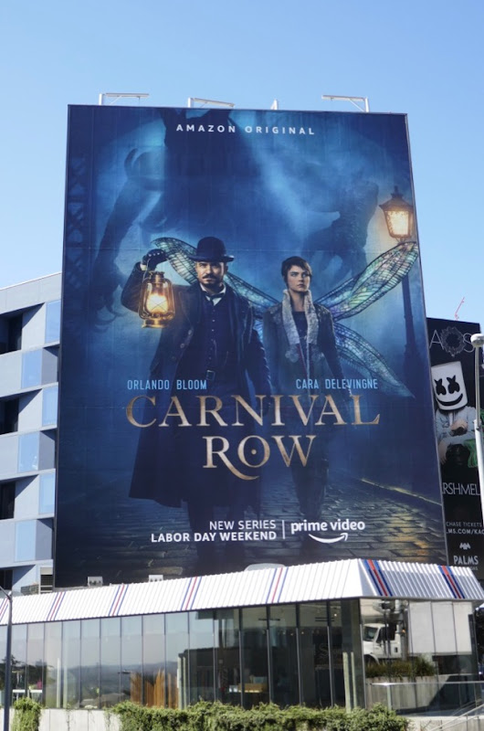 Giant Carnival Row series premiere billboard