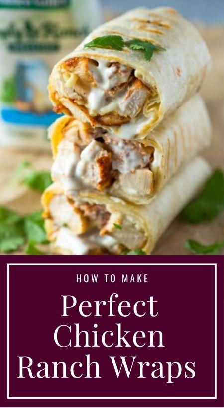 Perfect Chicken Ranch Wraps Recipe