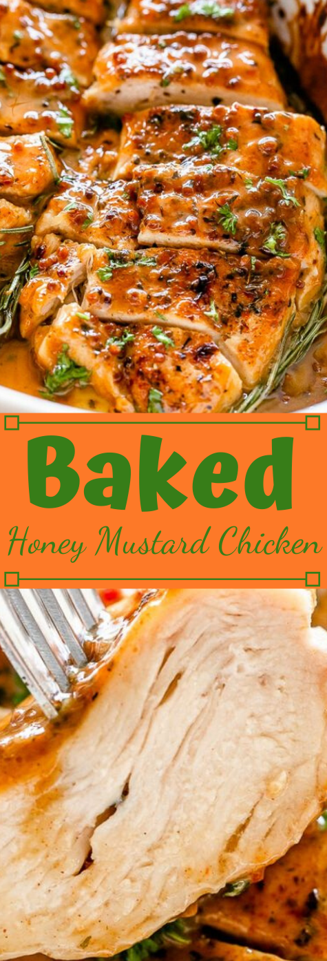 Baked Honey Mustard Chicken #healthy #chicken #dinner #cauliflower #easy