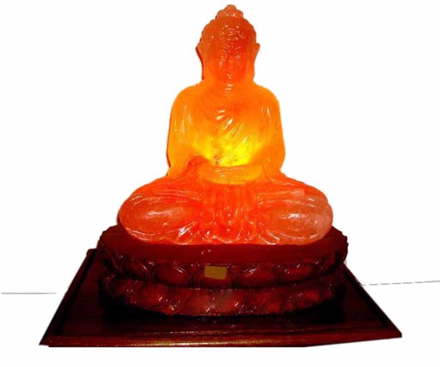 Đèn đá muối Himalaya Di Lặc Phật Thiềm Phong Thủy