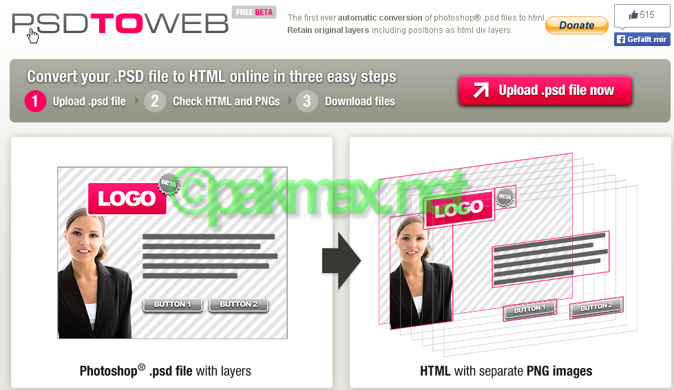 psd2web psd to html/CSS converter