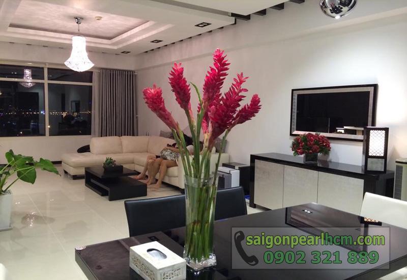 bán căn hộ saigon pearl ruby - view phòng khách