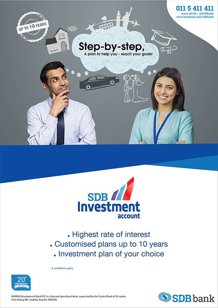 SDB bank   Highest rate of interest from SDB Investment Account.