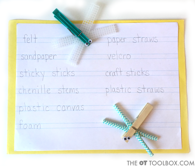 Use this dragonfly craft to work on occupational therapy goals like handwriting with this occupational therapy activity idea.