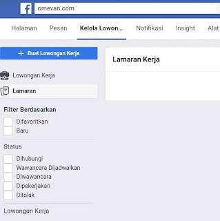 Cara membuat lowongan kerja di Fans page facebook