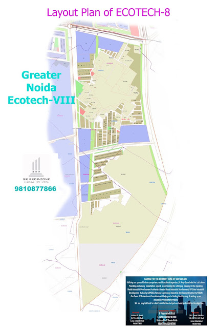 Layout Plan of Ecotech-VIII Greater Noida, High-Definition Map