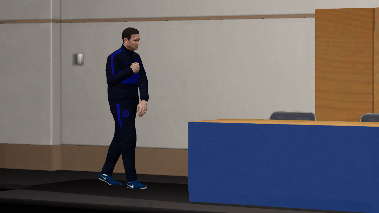 Chelsea FC Press Room & Manager Suit 2020 -- PES 2017