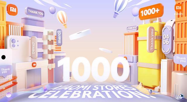 Xiaomi celebra 1,000 Mi Stores inauguradas en todo el mundo