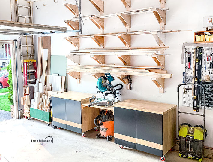 garage organization - makita miter saw