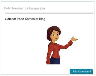 Cara memasukkan Gambar Pada Komentar Blog