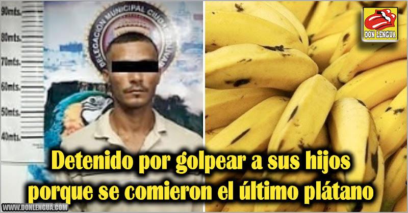 Detenido por golpear a sus hijos porque se comieron el último plátano