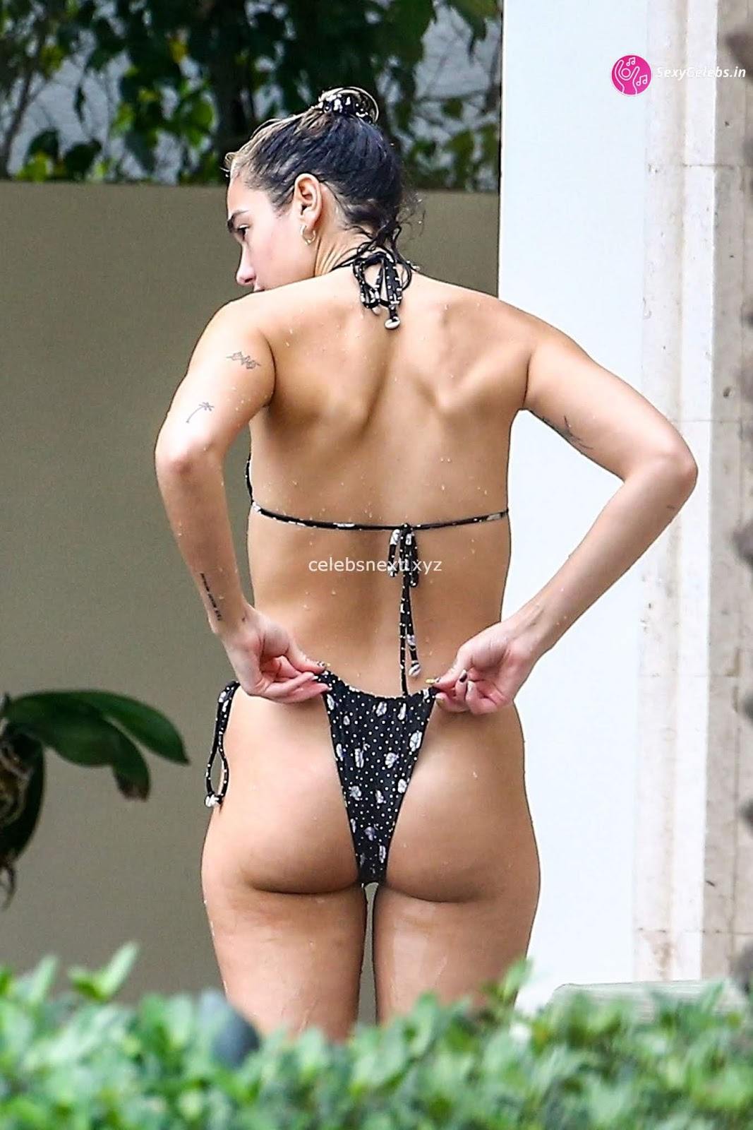 Dua Lipa Booty body huge tits sexy ass in tiny WET bikini WOW Beach Side Booty Pics
