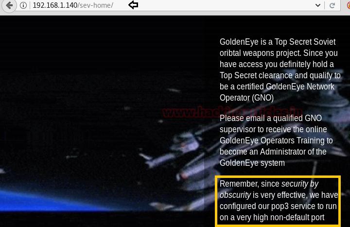 Hack the Golden Eye:1 (CTF Challenge)