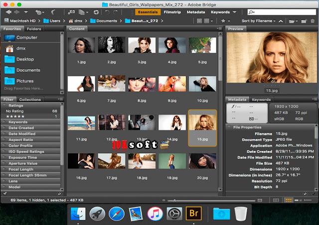 Adobe Bridge CC 2017 DMG File For Mac OS Direct Download Link