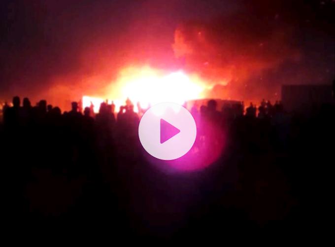 VIDEOS: Primeras imágenes del incendio en los campamentos que ha provocado daños materiales y humanos.